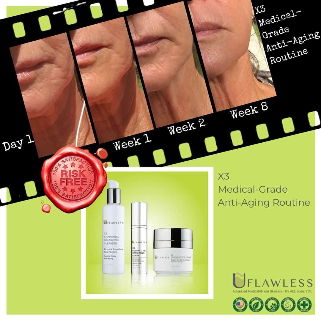 X3 Medical-Grade Anti-Aging Routine 8weeks