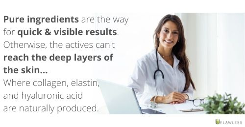 Pure ingredients deliver quick and visible results