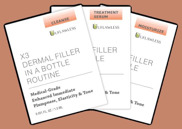 Samples X3 Dermal Filler In A Bottle Routine